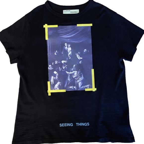 8bcafcdd Off-White Shirts | Offwhite Black Seeing Things Tee Shirt | Poshmark